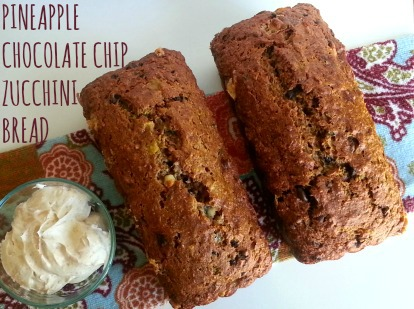 pineapple chocolate chip zucchini bread